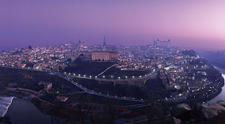 トレド旧市街の全景
